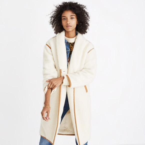 Madewell Jackets Coats Sherpa Topcoat Poshmark
